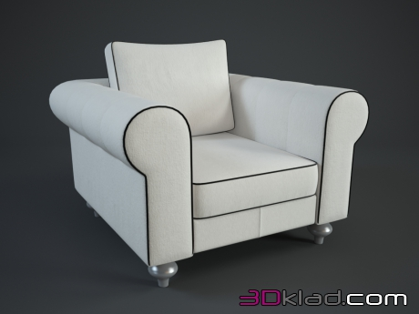 3d модель кресло LUST Dv home collection