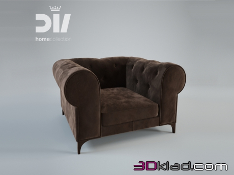 3d модель кресло TOTAL Dv home collection