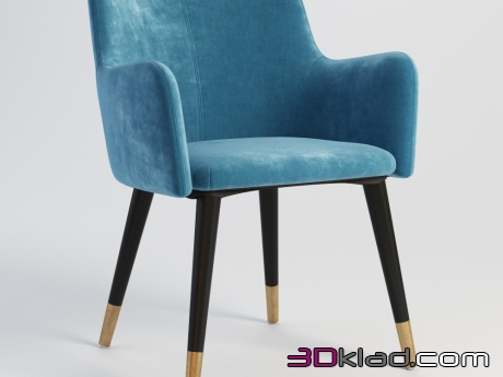 3d модель WARBY ARM CHAIR 441.014 Gramercy home