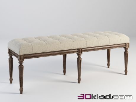 3d модель NEW BENCH 801.006-2N7 Gramercy home
