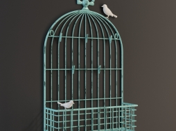 METAL BIRDCAGE CARD 1-0248