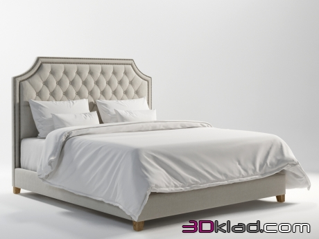 3d модель MONTANA KING SIZE BED 201.005-MF01 Gramercy home