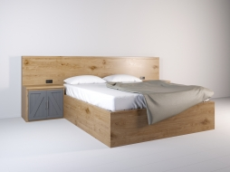"double bed with side tables and built-in headboard ""Anchorage"""
