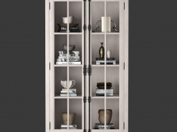 cabinet in Distressed white 61450007 WHT